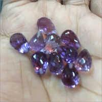 Amethyst Half Drilled Drops Cut Cabochons Stones