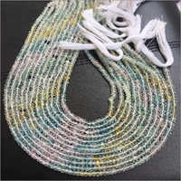 Multi Aquamarine Shaded Micro Faceted Beads