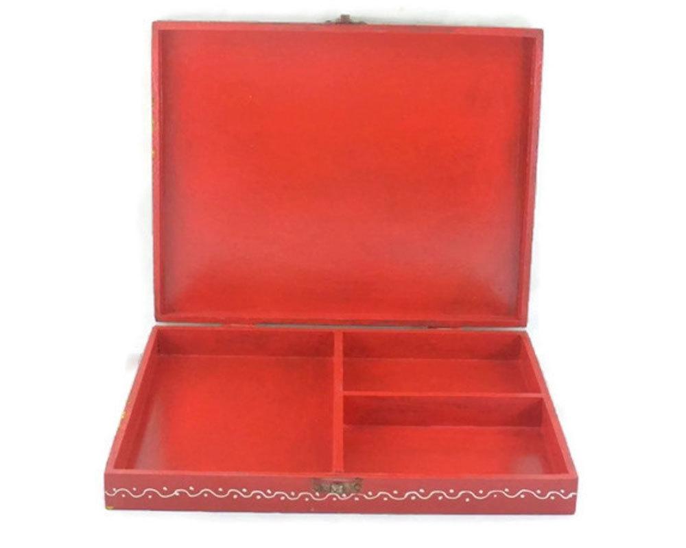 Indian Home Decorative Wooden Dry Fruit Rectangular Shape Box