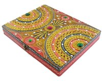 Indian Home Decorative Wooden Dry Fruit Rectangular Shape Box