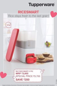 Tupperware rice keeper