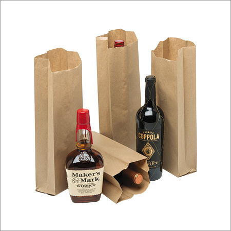 Brown Paper Bottle Kraft Bag