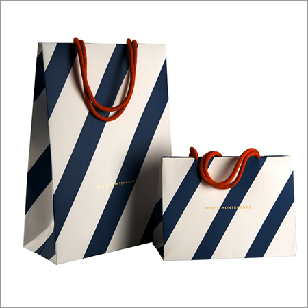Cotton Rope Handle Printed Paper Bag