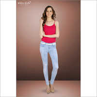 Ladies Light Blue Colour Denim Jeans