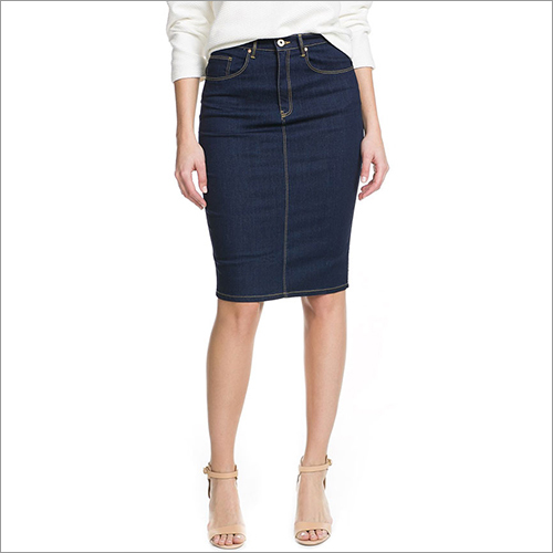 Ladies Casual Denim Skirt