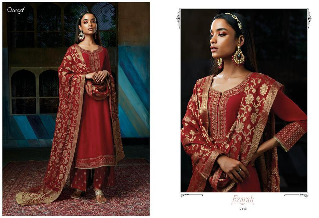 Hand Work Pure Silk Suits