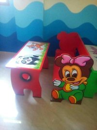 Kids Red Bench