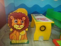 Kids Yellow Bench
