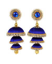 Handmade Traditional Silk Thread Jhumka Earrings