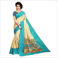 Ladies Trendy Lichi Saree