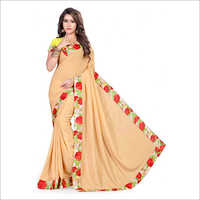 Ladies Trendy Crepe Saree