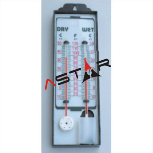 Plastic Wet And Dry Bulb Hygrometer