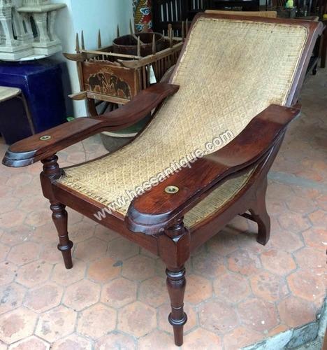 Antique Teakwood Planter Chair