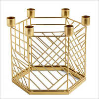 Cylindrical  Wire Net Candle Holder