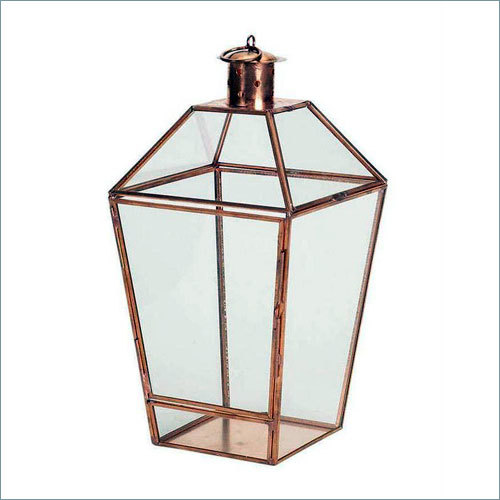 Copper Glass Candle Lantern