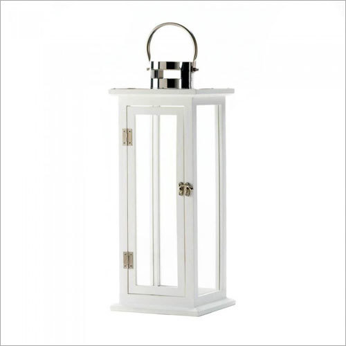 Steel Glass Candle Lantern