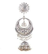 Fashion Stylish Oxidised Silver Earrings