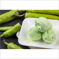 Green Chilli Flavored Ice Cream