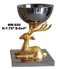 Gift Center Golden Deer Shape Brass Bowl