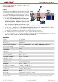 Micro-computer controlled Automatic Impact Test machine (JB-W300DZI)