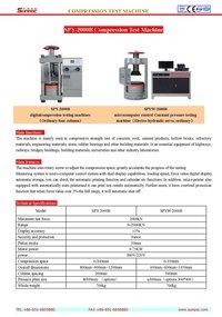 SPYW-2000B Compression Test Machine