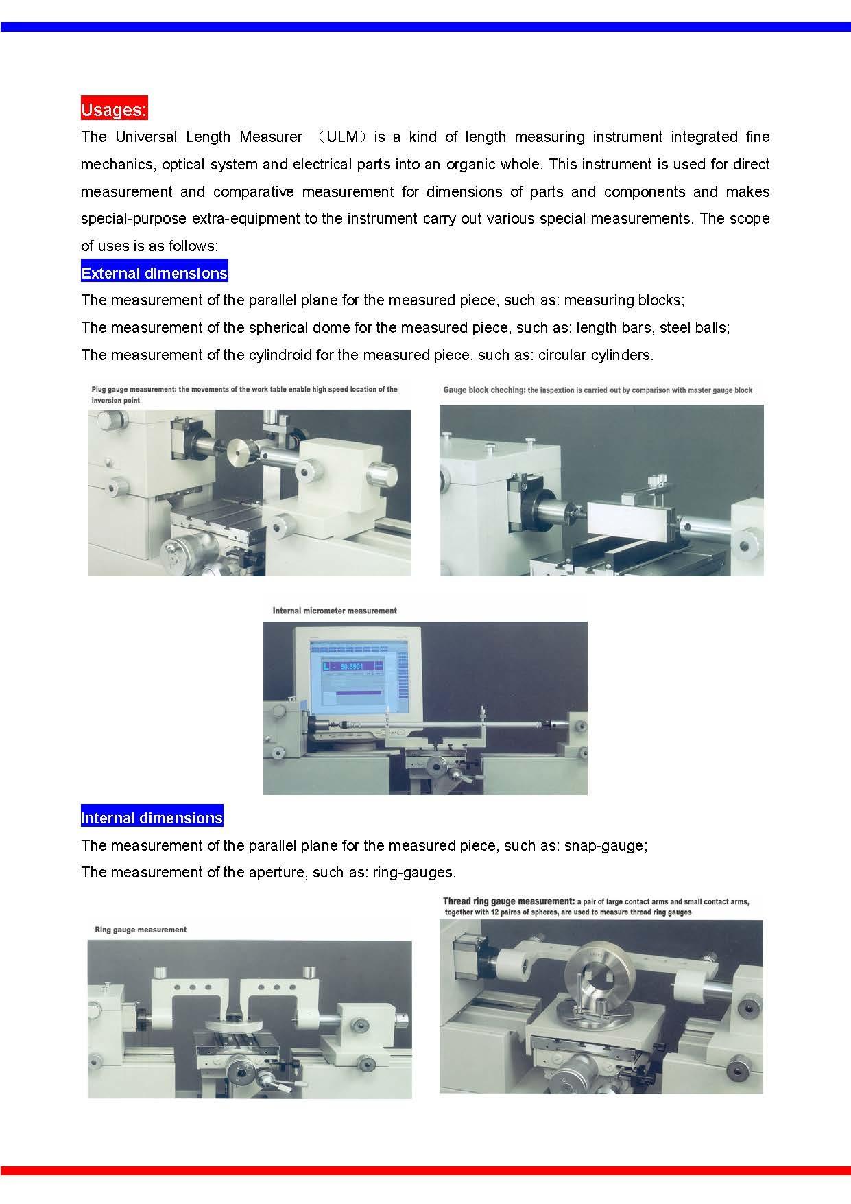 Universal Length Measurer(ULM)