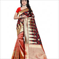 Ladies Party Wear Banarasi Saree