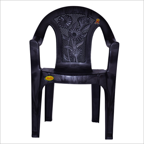 Plain Black Plastic Chair