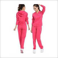 Ladies Plain Hooded Tracksuit