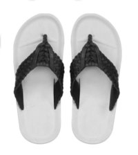 V Shape Black Mens Slippers
