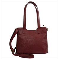 Leather Embossed Shoulder Office Handbag For Women