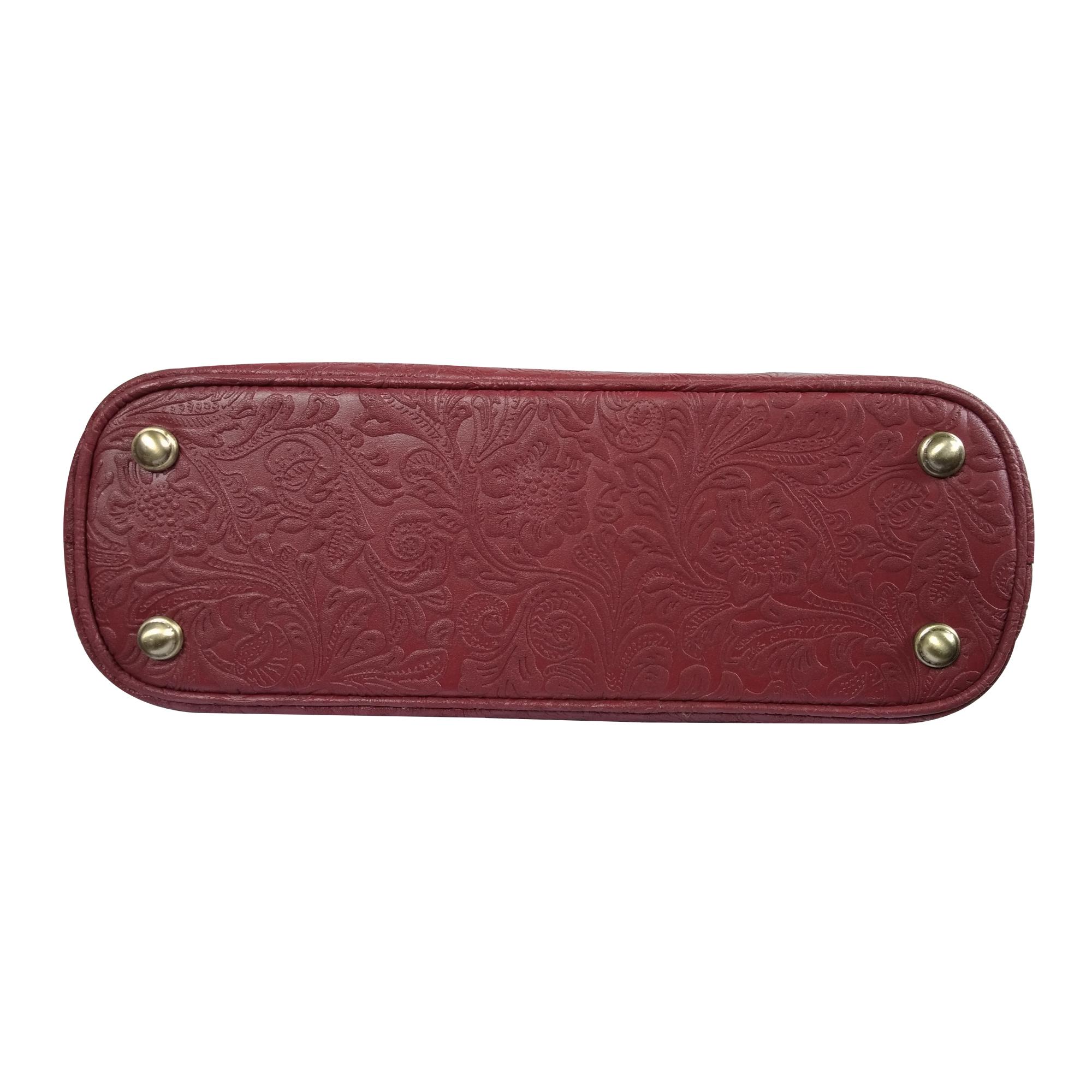 Leather Embossed Shoulder Office Handbag For Women