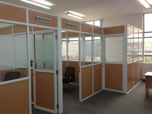 Aluminium glass and partly partition