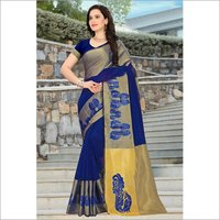 Cotton Embroidery work Cotton Sarees