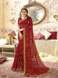 Trendy Georgette Bandhani Saree