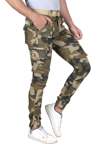 Mens Military Cargo Trousers