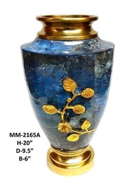 Brass Marble Decorative Leaf  Flower Base