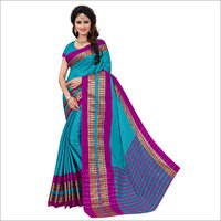 Poly Cotton Jacquard Silk Sarees