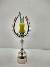 Silver Large Design Candle Stand For Home Decoration