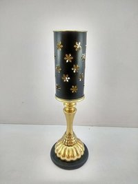 Brass Decorative Shape Candle Stand With Metal Base