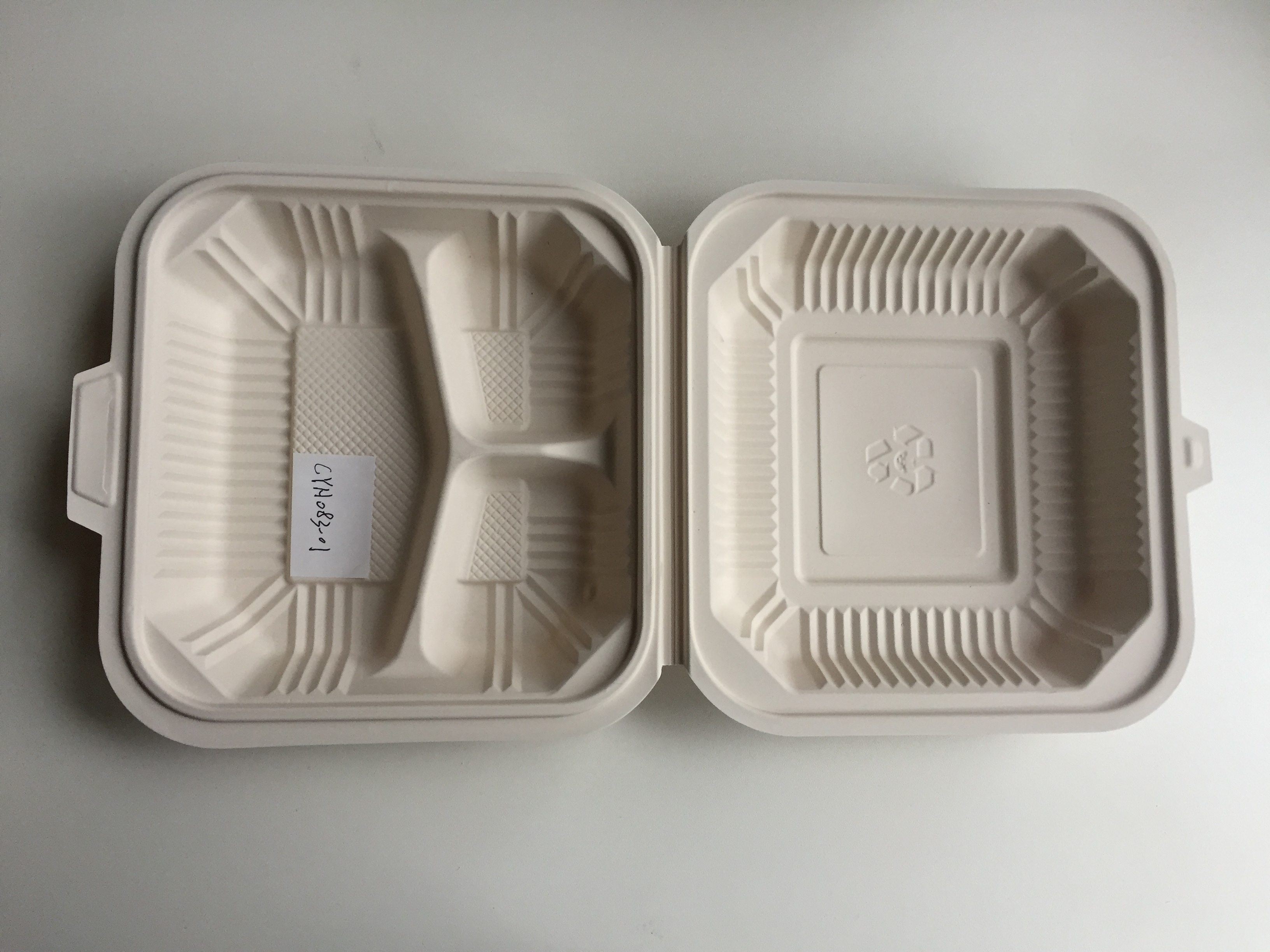 Corn Starch Clamshell Lunch Box