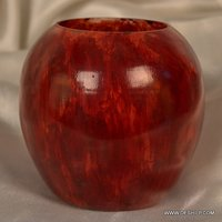 SMALL RED COLOR GLASS FLOWER VASE