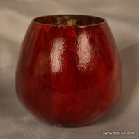 RED COLOR FINISH GLASS FLOWER VASE