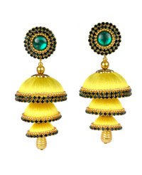 Fashion Silk Thread Latest Jhumka Earrings
