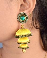 Fashion Silk Thread Latest Jhumka Earrings