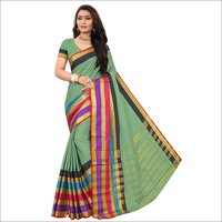 Heavy Printed Cotton Silk Saree