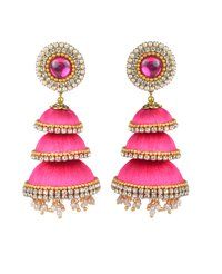 Latest Design Silk Thread Jhumka Earrings