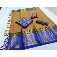 Soft Poly silk Dobby Jacquard Saree
