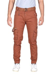 Mens 6 pocket plain cargo pant