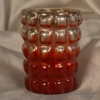 ORANGE & WHITE CANDLE HOLDER